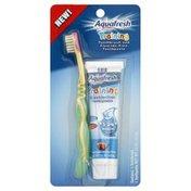 Aquafresh Toothbrush and Toothpaste, Fluoride-Free