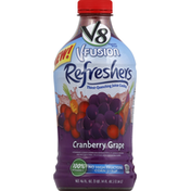 V8 Juice Cocktail, Thirst-Quenching, Cranberry Grape