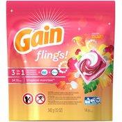 Gain flings! Laundry Detergent Pacs, Tropical Sunrise, 14 count Laundry