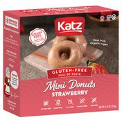 Katz Gluten Free  Strawberry, Grain Free, Mini Donuts