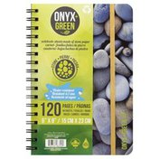 Onyx + Green Notebook, 120 Pages, 6x9 Inches, Not Packed