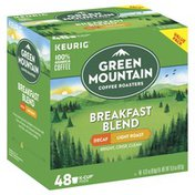 Green Mountain Coffee, 100% Arabica, Light Roast, Breakfast Blend, Decaf, K-Cup Pods, Value Pack