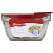 Rubbermaid Container, Glass, 4 Cups