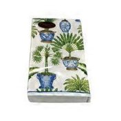 Caspari Potted Palms White Guest Towel