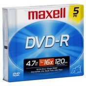 Maxell DVD-R, 4.7 GB, 120 Minutes