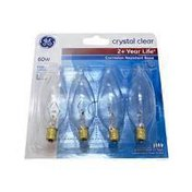 General Electric 60 Watt Cac Long Life Incandescent Chandelier Light Bulb Soft White