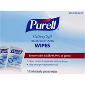 Purell Wipes, Hand Sanitizing, Cottony Soft