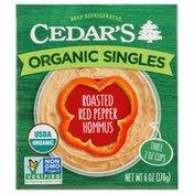 Cedar's Foods Organic Roasted Red Pepper Hommus Singles