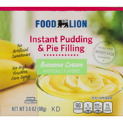 Food Lion Pudding & Pie Filling, Instant, Banana Cream