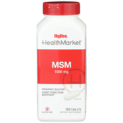 Hy-Vee Healthmarket, Msm 1000 Mg Organic Sulfur Joint Function Support Dietary Supplement Tablets