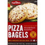 Macabee Pizza Bagels, Mozzarella Cheese & Seasoned Sauce