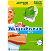Mr. Clean Magic Eraser Mr Clean Magic Eraser Handy Grip Bathroom Cleaner Refills 4 Count Surface Care