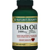 Nature's Bounty Fish Oil, 2400 mg, Coated Softgels