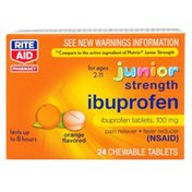 Rite Aid CHILDREN'S IBUPROFEN 100 mg PAIN RELIEVER & FEVER REDUCER (NSAID) CHEWABLE TABLETS, ORANGE