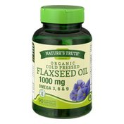 Nature's Truth Organic Cold Pressed Flaxseed Oil