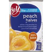 Big Y Peach, Halves, Lite
