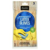 Essential Everyday Latex Gloves, Household, Small