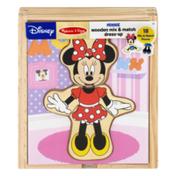 Melissa & Doug Disney Wooden Mix & Match Dressup Minnie Mouse