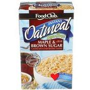 Food Club Sugar Free Maple & Brown Sugar Instant Oatmeal