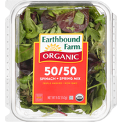 Earthbound Farms Organic Baby Spinach Spring Mix Salad