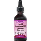 Bluebonnet Vitamin B12, 1000 mcg, Liquid, Raspberry Flavor