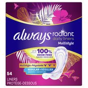 Always Daily Multistyle Liners Regular Absorbency Unscented