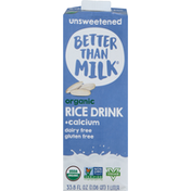 Better Than MILK Rice Drink, Organic, Unsweetened