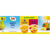 Dole Yellow Cling Diced Peaches & Cherry Mixed Fruit in 100% Fruit Juice Fruit Cups Variety Pack