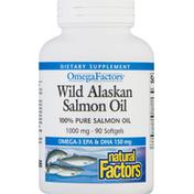 Natural Factors Wild Alaskan Salmon Oil, 1000 mg, Softgels