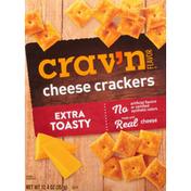 Crav'n Flavor Cheese Crackers, Extra Toasty