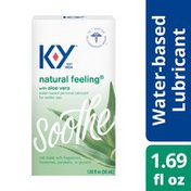 K-y® Natural Feeling with Aloe Vera Lubricant, Premium Water Based Lube, Free From Harmful Chemicals