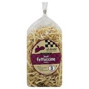 Al Dente Fettuccine Noodles, Basil