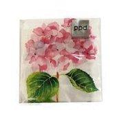 PPD Rose Hydrangea Beverage Napkin