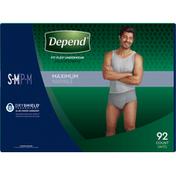 Depend Underwear, Maximum Absorbency, S-M, Men