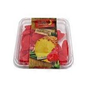 Nutty & Fruity Raspberry Flavored Pineapple Slices