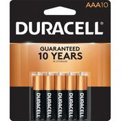 Duracell Batteries, Alkaline, AAA, 1.5V, 10 Pack