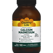 Country Life Calcium-Magnesium Complex, 1000 mg - 500 mg, Tablets
