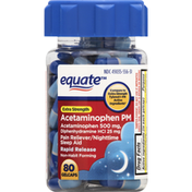 Equate Acetaminophen PM, Extra Strength, Gelcaps