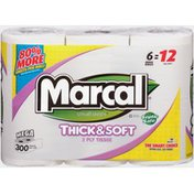 Marcal® Thick & Soft 2-Ply 300-Sheet Mega Roll Bathroom Tissue