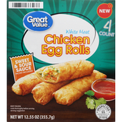 Great Value Egg Rolls, Chicken, White Meat
