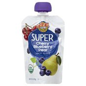Earth's Best Fruit Puree, Super, Cherry, Blueberry, Pear, Organic, Pouch