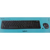 Logitech Keyboard and Mouse Combo, Wireless, Full-Size