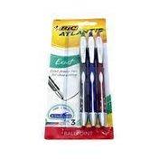 BiC Atlantis Exact Fine Assorted Ink Ballpoint Pens