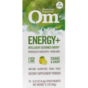 Om Energy+, Drink Sticks, Lemon Lime Flavor