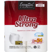 Essential Everyday Bathroom Tissue, Ultra Strong, Mega Rolls, Two-Ply