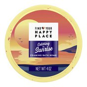 Find Your Happy Place Foaming Luxurious Bath Bomb, Mango And Sparkling Citrus