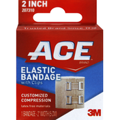 Ace Elastic Bandage, with Clips, 2 Inch