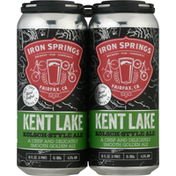 Iron Springs Beer, Kolsch-Style Ale, Kent Lake
