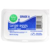 Food Club Grade A Large White Eggs