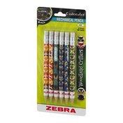 Zebra Cadoozles Mechanical Pencil #2 Woodland Critters - 6 CT